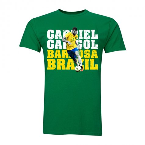 Gabriel Gabigol Barbosa Brazil T-Shirt (Green) - Kids