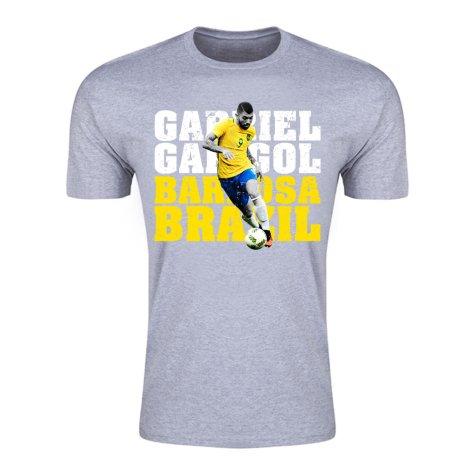 Gabriel Gabigol Barbosa Brazil T-Shirt (Grey)