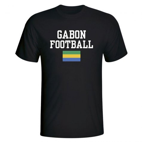 Gabon Football T-Shirt - Black