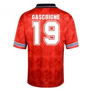 Score Draw England World Cup 1990 Away Shirt (Gascoigne 19)