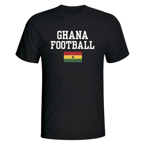 Ghana Football T-Shirt - Black