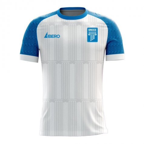 Greece 2020-2021 Home Concept Football Kit (Libero) - Little Boys