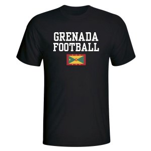 Grenada Football T-Shirt - Black