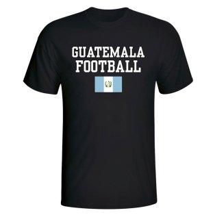 Guatemala Football T-Shirt - Black
