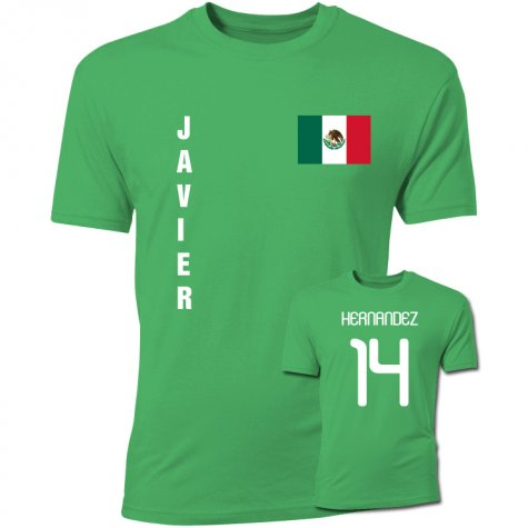 Javier Hernandez Mexico Flag T-Shirt (Green)