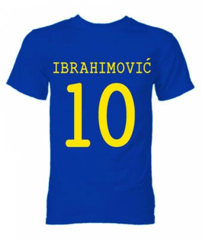 Zlatan Ibrahimovic Sweden Hero T-Shirt (Blue)