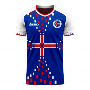 Iceland 2020-2021 Home Concept Football Kit (Libero)