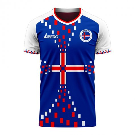 Iceland 2020-2021 Home Concept Football Kit (Libero) - Little Boys