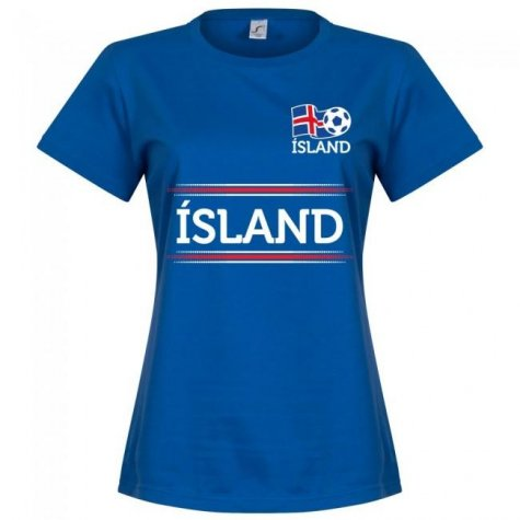 Iceland Team Womens T-Shirt - Royal
