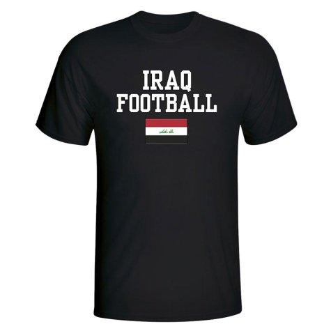 Iraq Football T-Shirt - Black