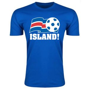 Iceland Football Federation T-Shirt (Blue) - Kids
