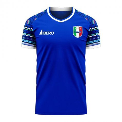 Italy 2020-2021 Home Concept Football Kit (Libero)