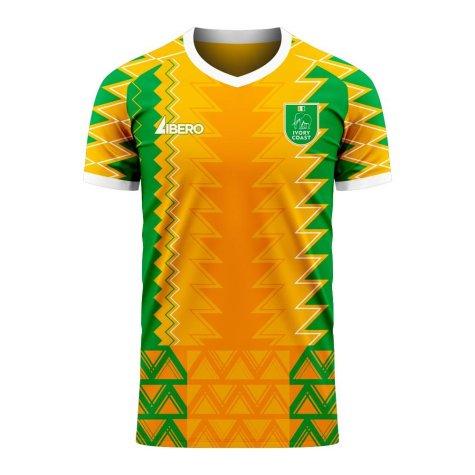 Ivory Coast 2020-2021 Home Concept Football Kit (Libero)