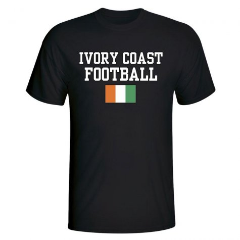 Ivory Coast Football T-Shirt - Black