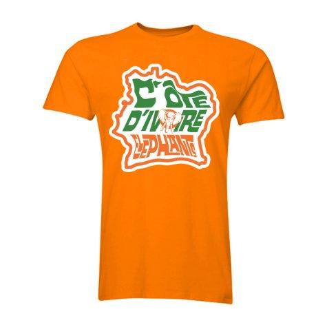 Ivory Coast The Elephants T-Shirt (Orange)