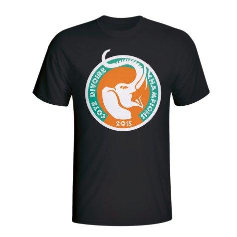 Ivory Coast 2015 African Nation Winners Tee (Black)