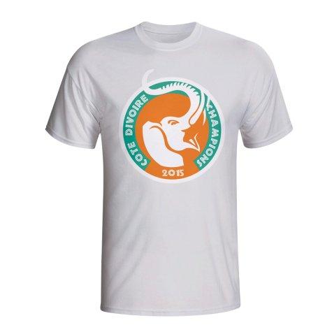 Ivory Coast 2015 African Nation Winners Tee (White)