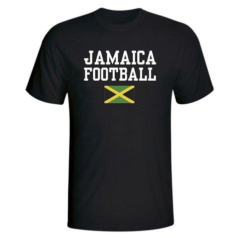 Jamaica Football T-Shirt - Black