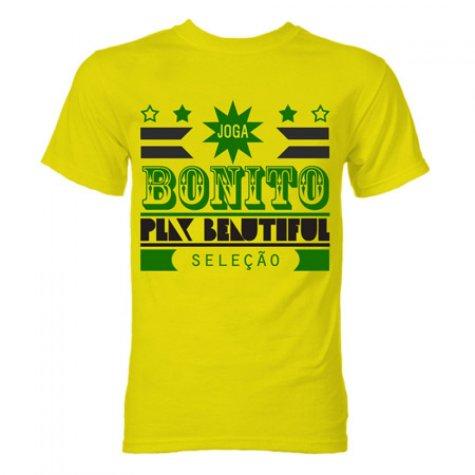 Brazil Joga Bonito T-Shirt (Yellow)