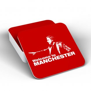 Jose Mourinho - Welcome To Manchester Coaster (Red)