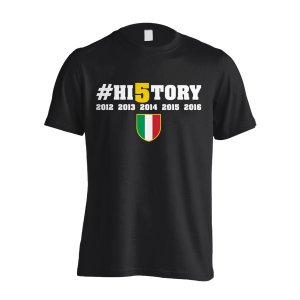 Juventus History Winners T-Shirt (Black) - Kids