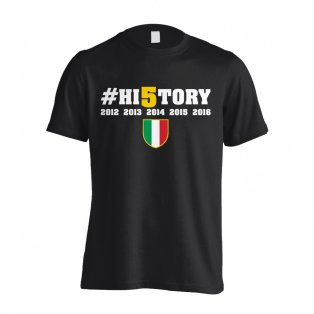 Juventus History Winners T-Shirt (Black) - Kids