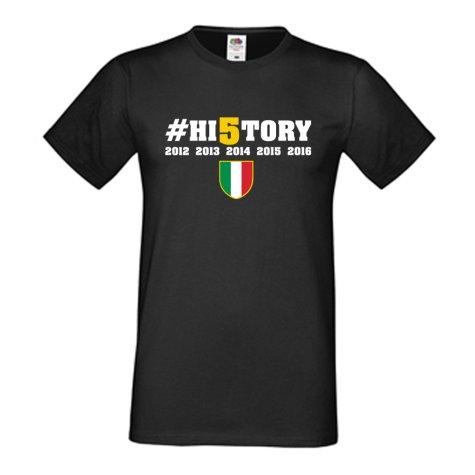 Juventus History Winners T-Shirt (Campioni 34) - Black