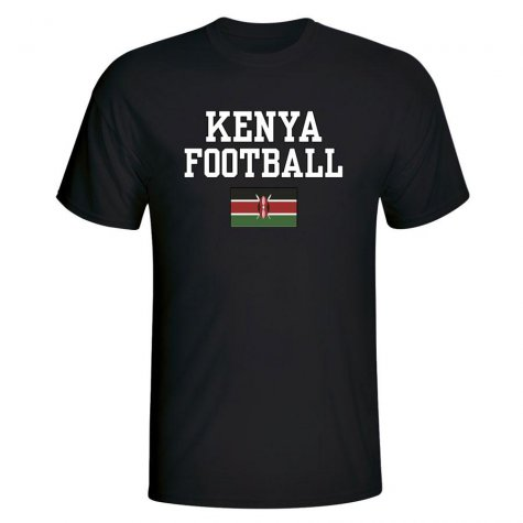 Kenya Football T-Shirt - Black