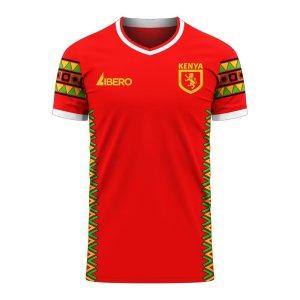 Kenya 2020-2021 Home Concept Football Kit (Libero) - Little Boys