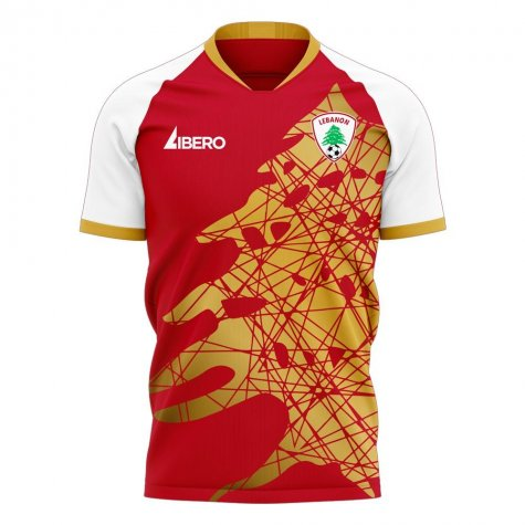 Lebanon 2020-2021 Home Concept Football Kit (Libero) - Little Boys