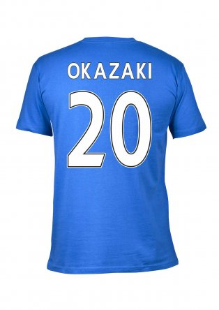 Leicester City 2016 Premier League Champions T-Shirt (Okazaki 20) Blue