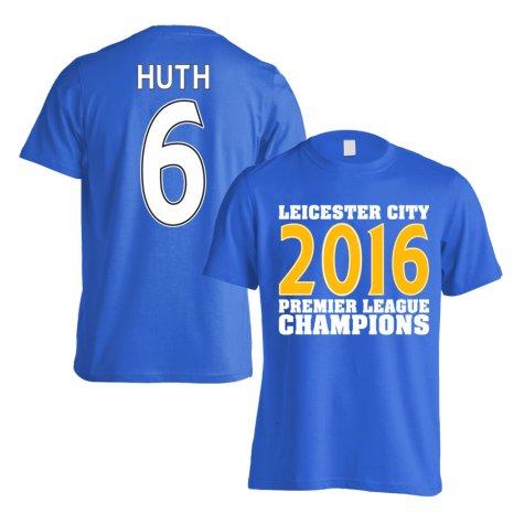 Leicester City 2016 Premier League Champions T-Shirt (Huth 6) Blue
