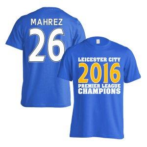 Leicester City 2016 Premier League Champions T-Shirt (Mahrez 26) Blue - Kids