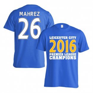 Leicester City 2016 Premier League Champions T-Shirt (Mahrez 26) Blue - Kids