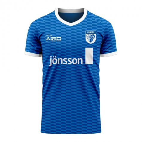 Lyngby 2020-2021 Home Concept Football Kit (Airo) - Kids