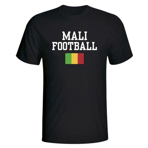 Mali Football T-Shirt - Black