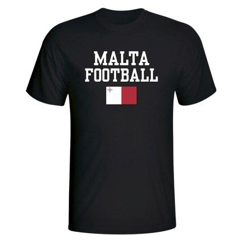Malta Football T-Shirt - Black