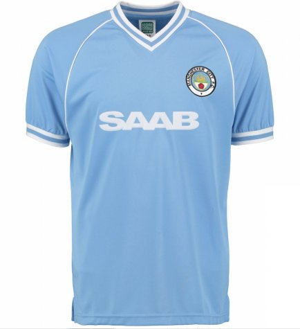 Score Draw Manchester City 1982 Home Shirt