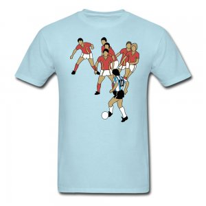 Diego Maradona Best Goal T-Shirt (Sky Blue)