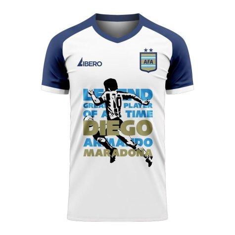Diego Maradona Legend Of Our Time Tee (White) - Little Boys