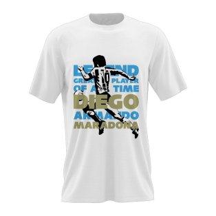 Diego Maradona Legend T-Shirt (White)