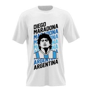 Diego Maradona Tribute Tee (White)