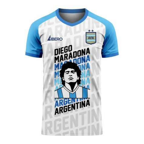 Diego Maradona Exclusive Concept Shirt (White) - Little Boys