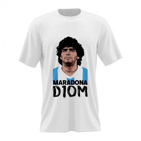 Diego Maradona D10M T-Shirt (White)