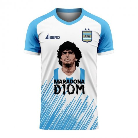 Diego Maradona D10M Concept Shirt (White) - Kids
