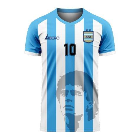 Diego Maradona Argentina Silhouette Concept Shirt - Kids