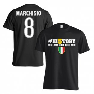 Juventus History Winners T-Shirt (Marchisio 8) Black - Kids