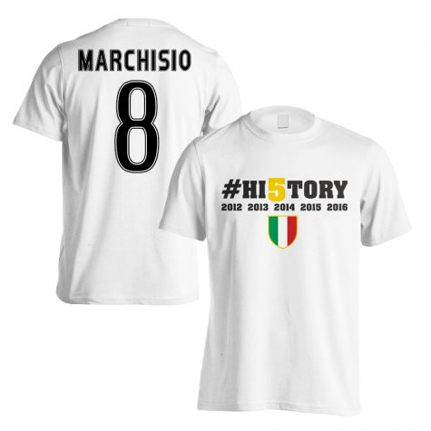Juventus History Winners T-Shirt (Marchisio 8) - White (Kids)