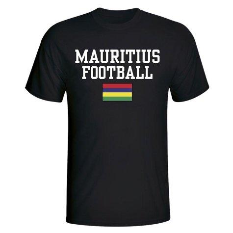 Mauritius Football T-Shirt - Black
