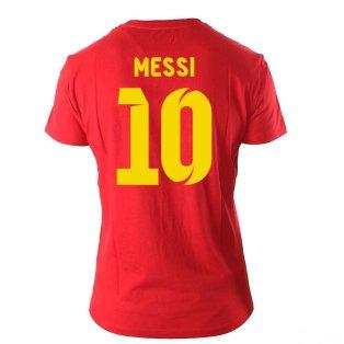 Lionel Messi Visca El Barca Hero T-Shirt (Red)